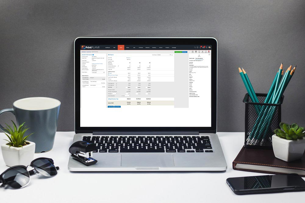 Digital print estimating software