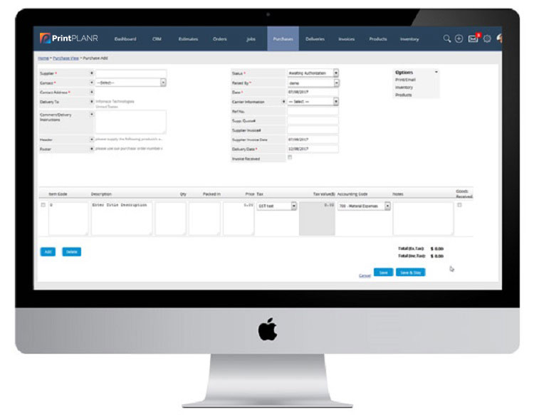Manage purchase orders with sign management software
